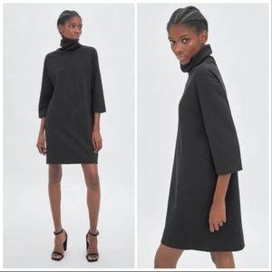 🆕 Zara Trafaluc Turtleneck Shift Dress in Charoal
